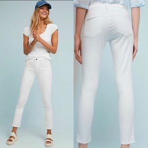 AG Adriano Goldschmied White Abbey Ankle Jeans 28R
